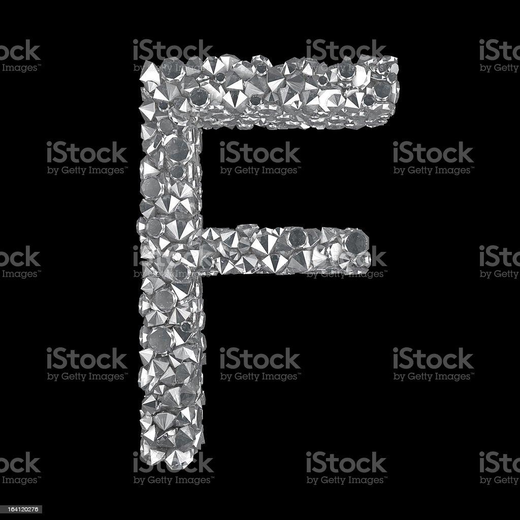 Diamond Letter F royalty-free stock photo