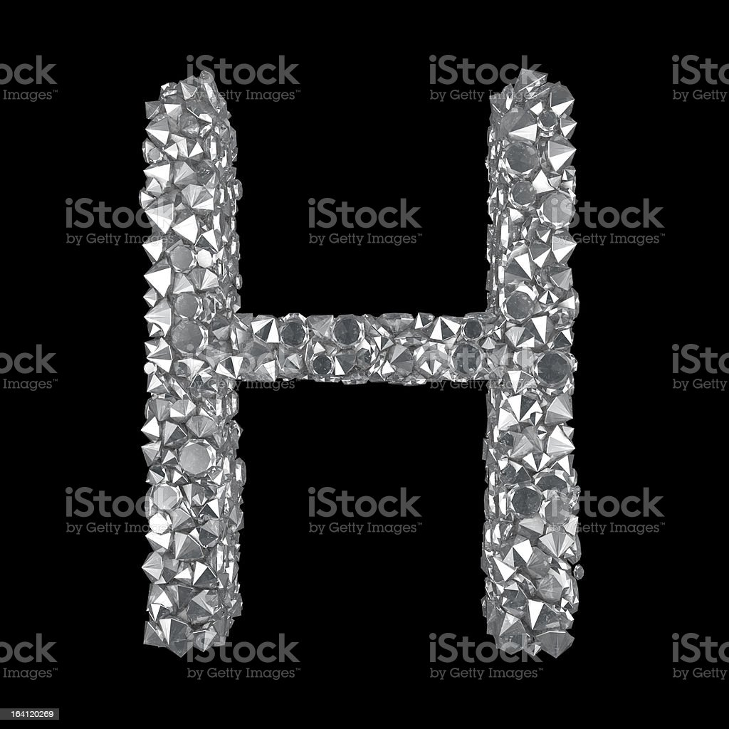 Diamond Letter H royalty-free stock photo