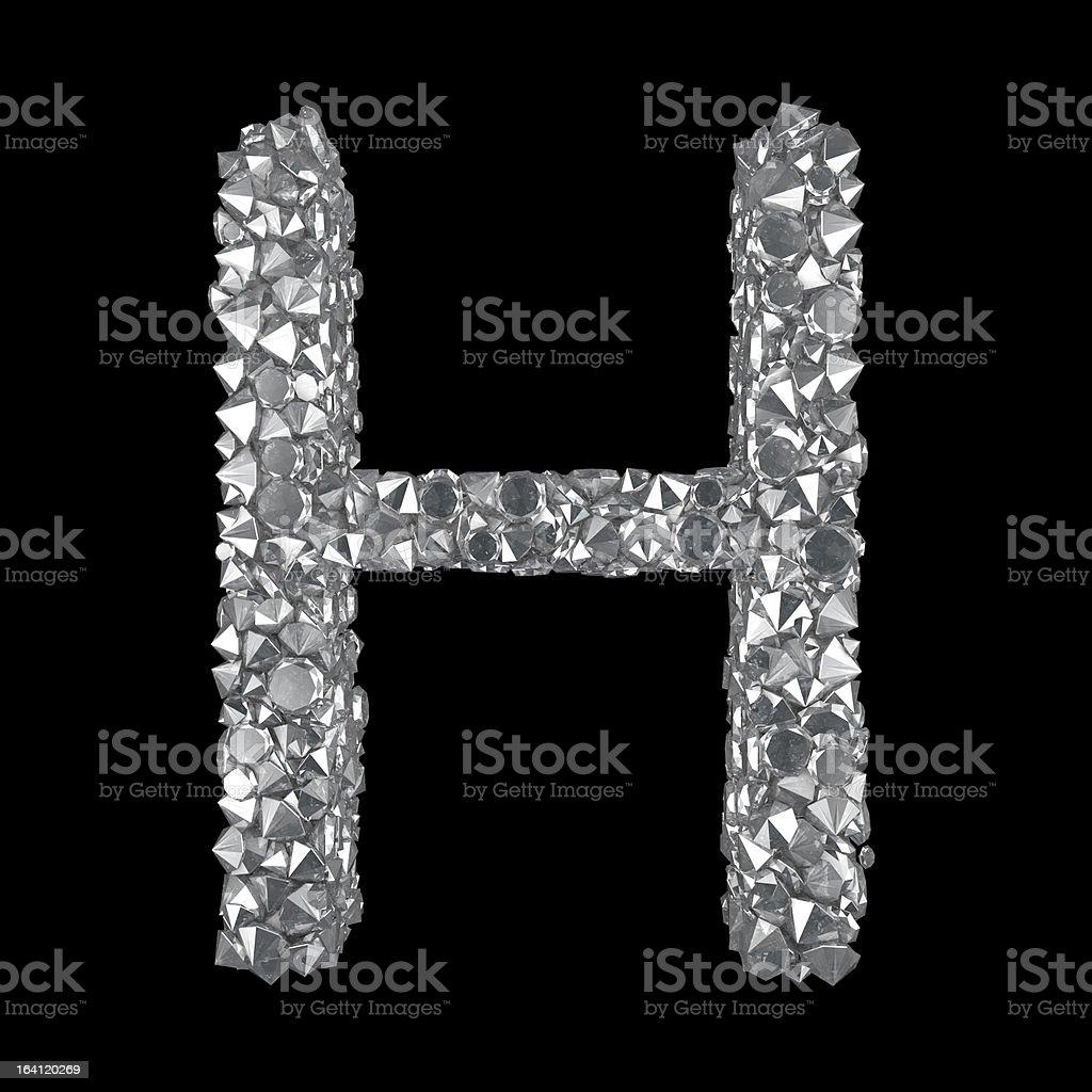 Diamond Letter H royalty-free stock vector art