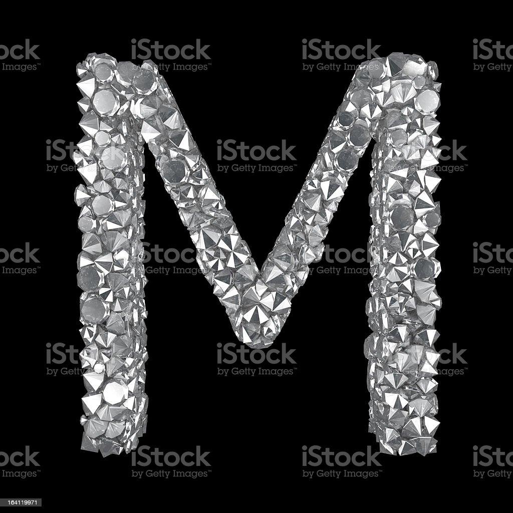 Diamond Letter M royalty-free stock photo