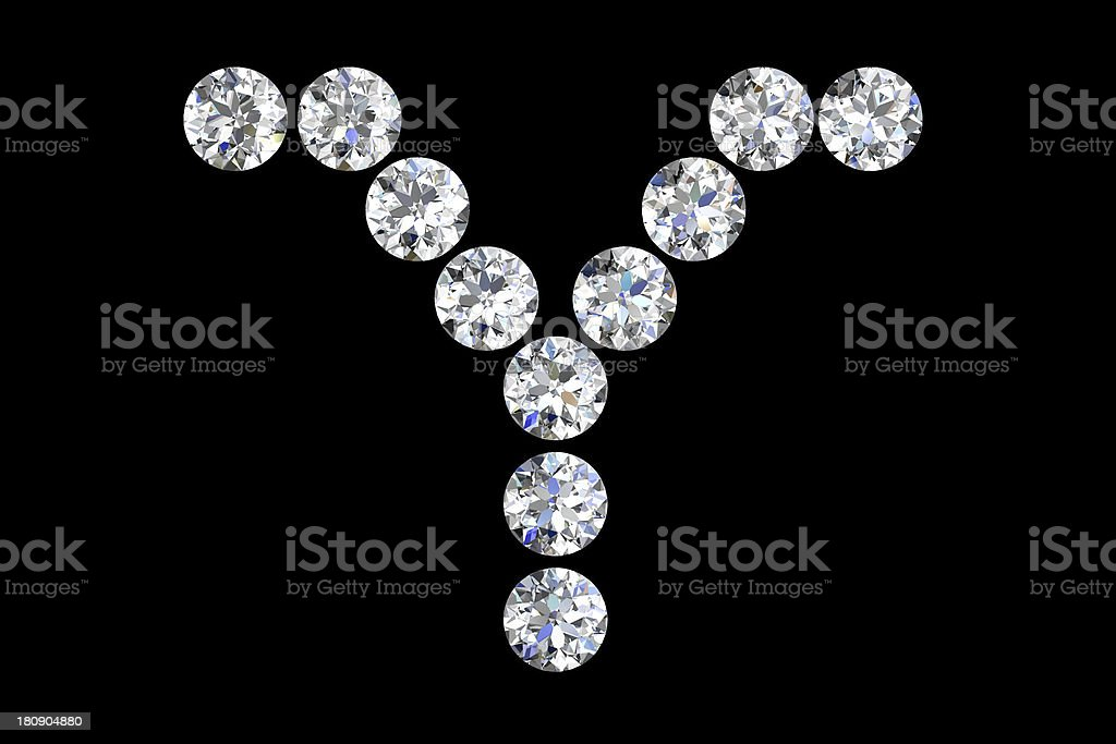 diamond letters royalty-free stock photo
