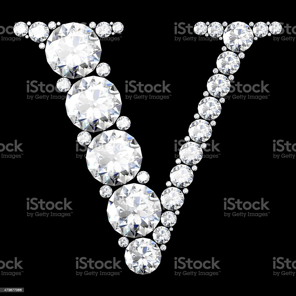 diamond letters with gemstones (high resolution 3D image) stock photo