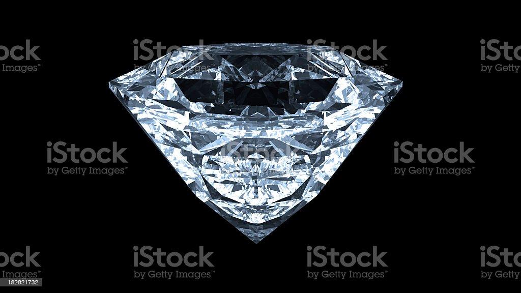 Diamond Light Blue Tint royalty-free stock photo