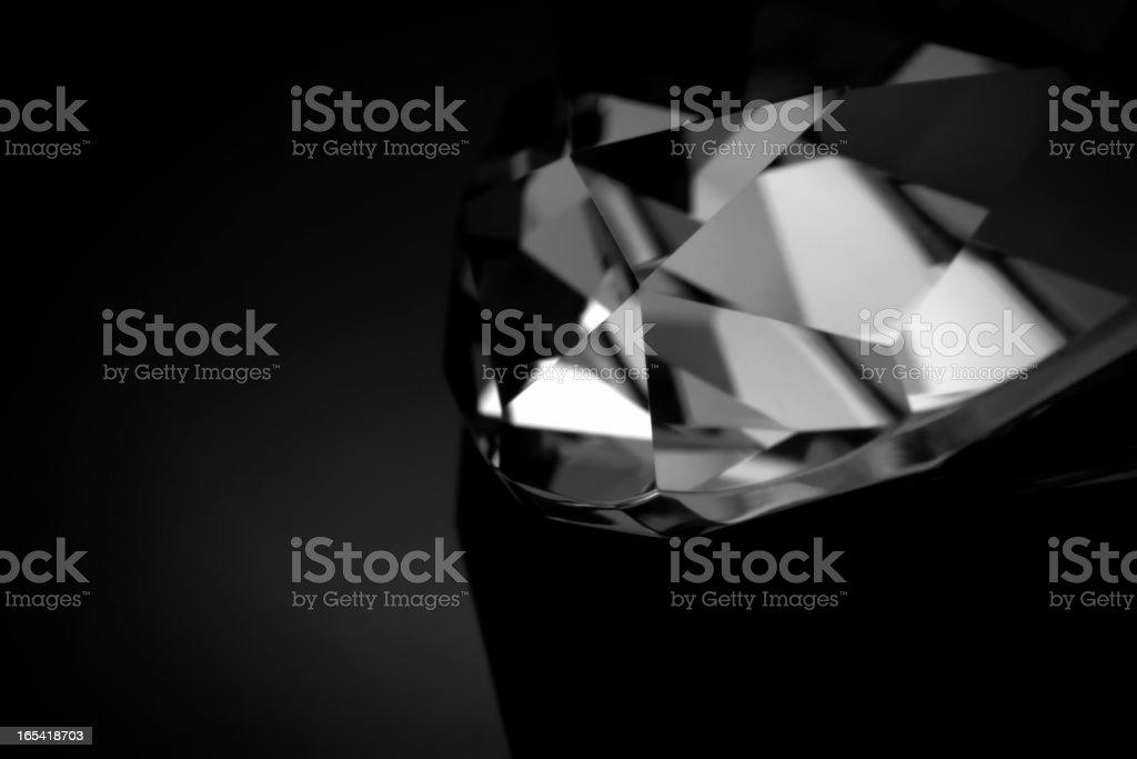 B&W diamond macro stock photo