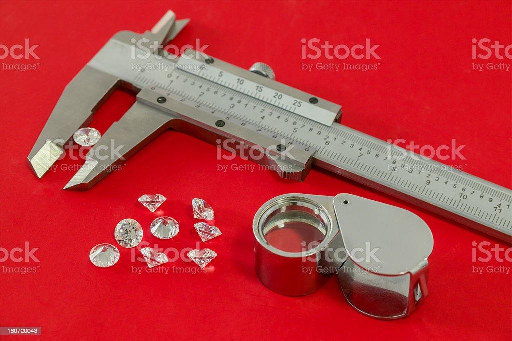 Diamond Measuring Tools royalty-free stock photo