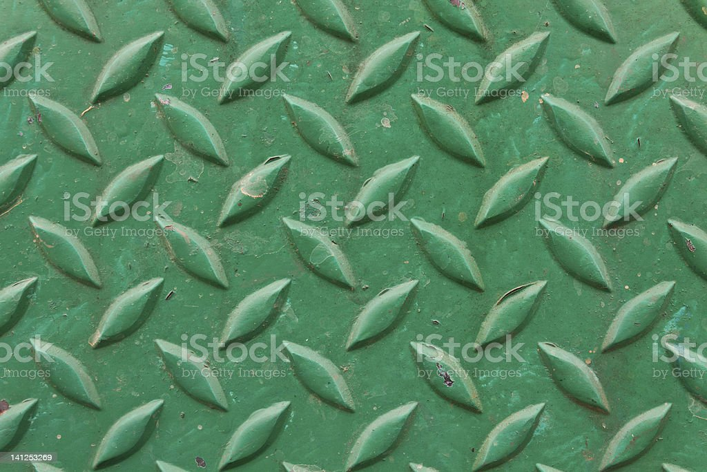 Diamond metal painted green royalty-free stock photo