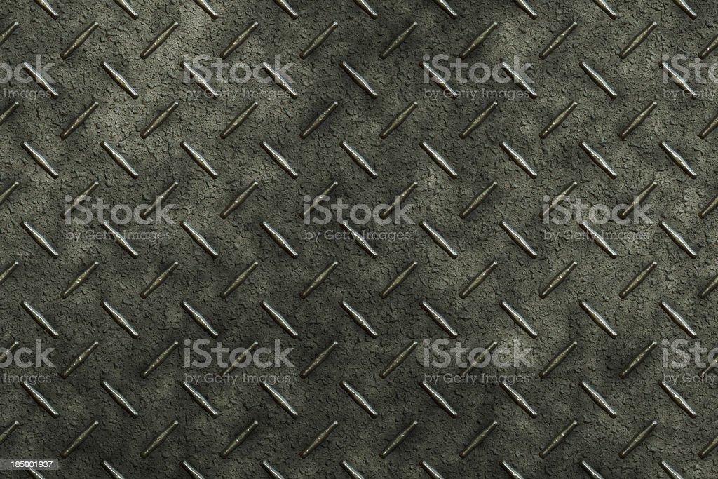Diamond metal plate stock photo