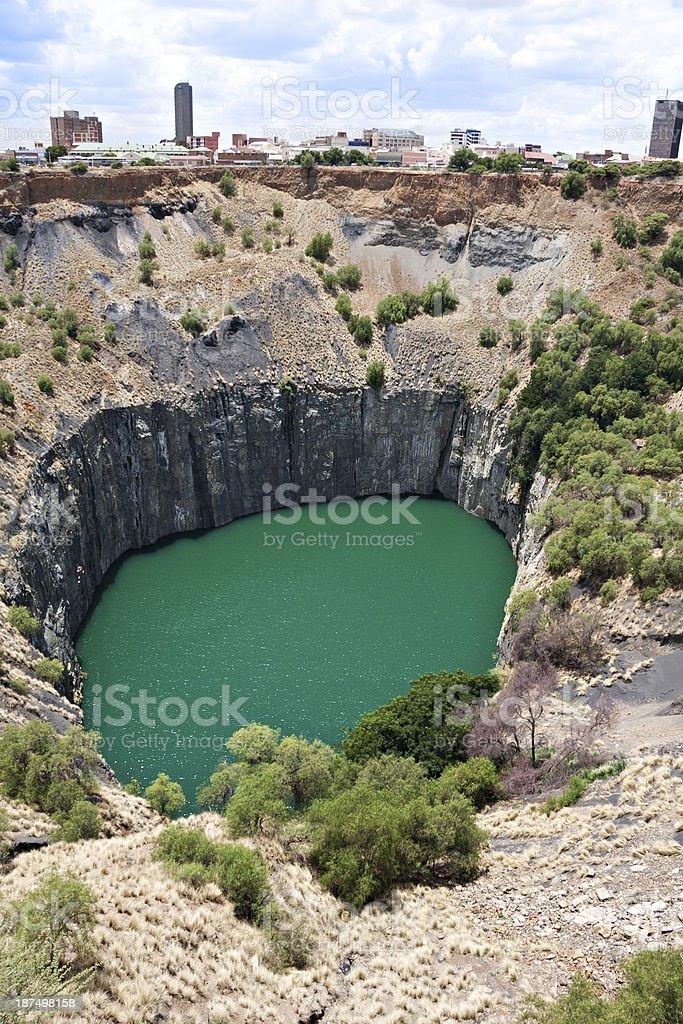diamond mine stock photo