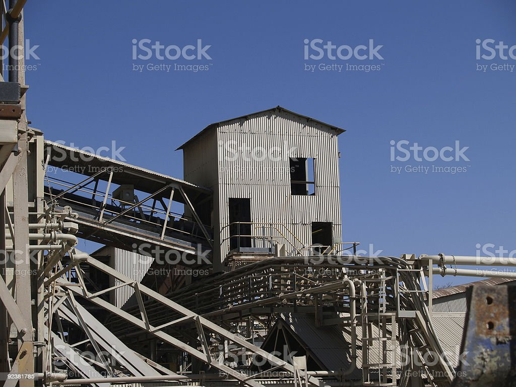 Diamond mine structure royalty-free stock photo