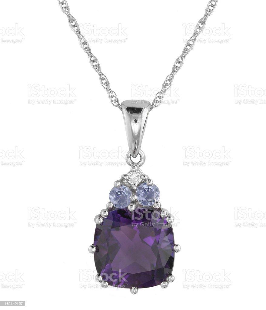 Diamond & Multi Stone Pendant royalty-free stock photo
