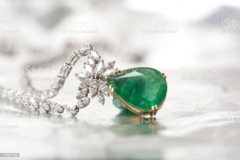 Diamond Necklace stock photo