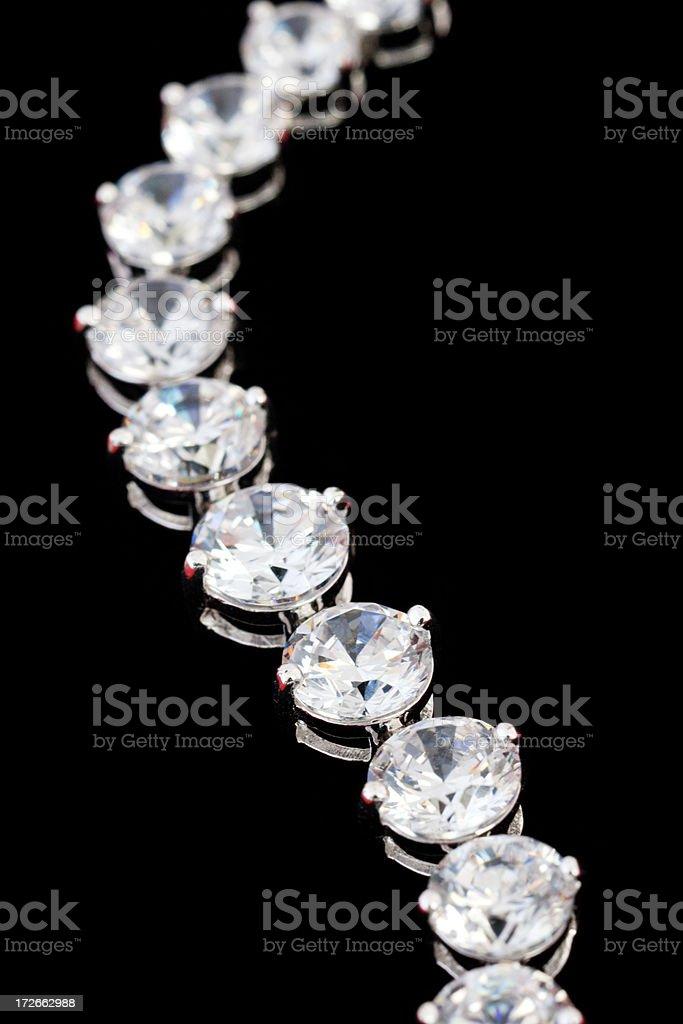 diamond necklace (macro shot) stock photo