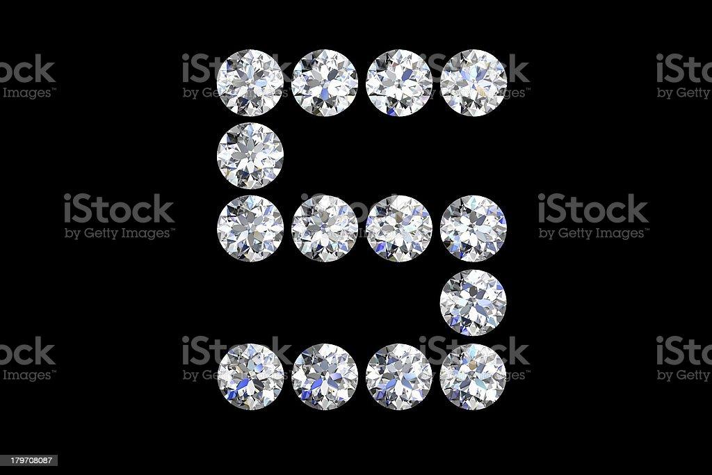 Diamond number five royalty-free stock photo
