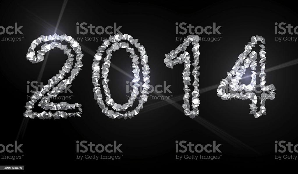 Diamond Numbers Year 2014 royalty-free stock photo
