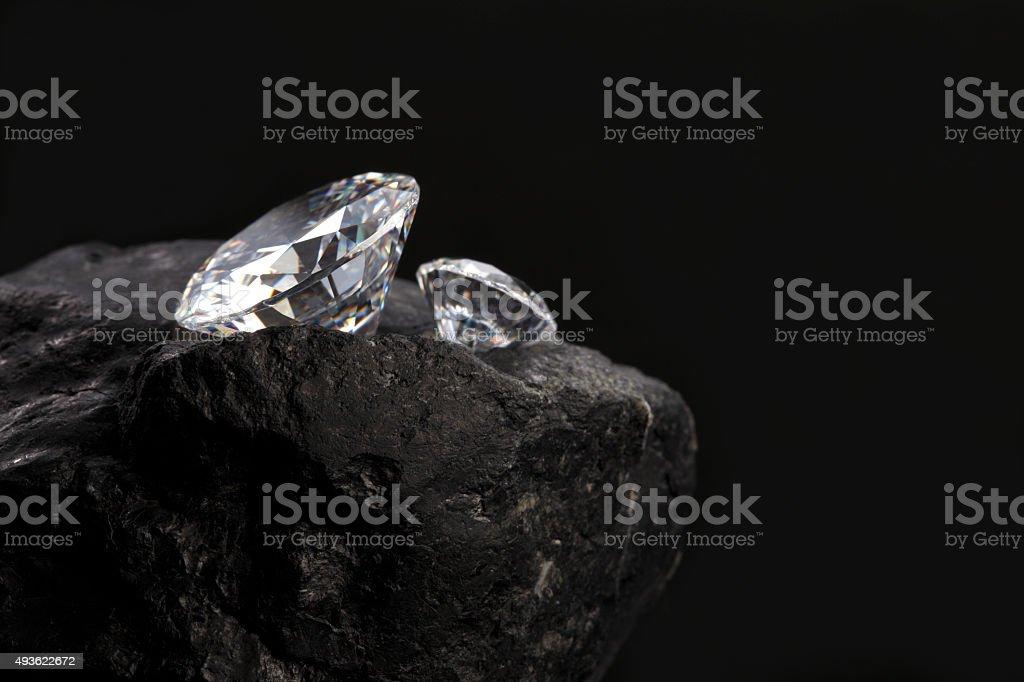 diamond on a rock stock photo