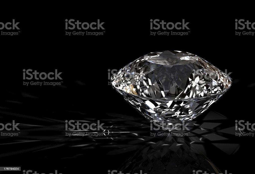 diamond on black background royalty-free stock photo