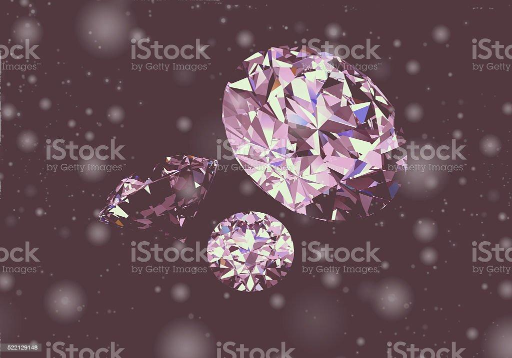 Diamond on black background.High quality 3d render stock photo
