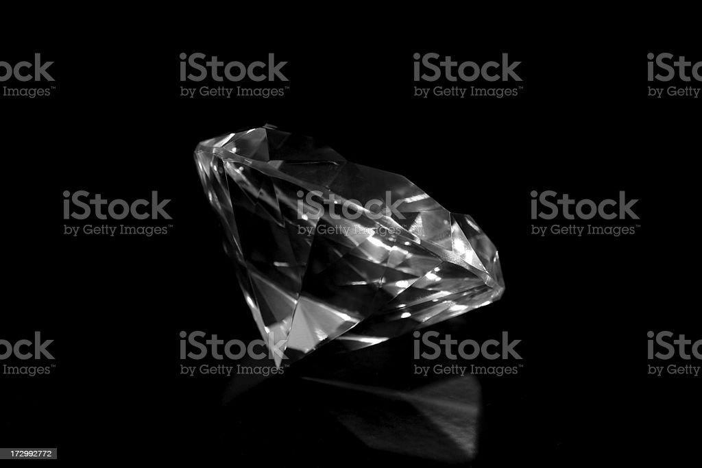 Diamond on black stock photo