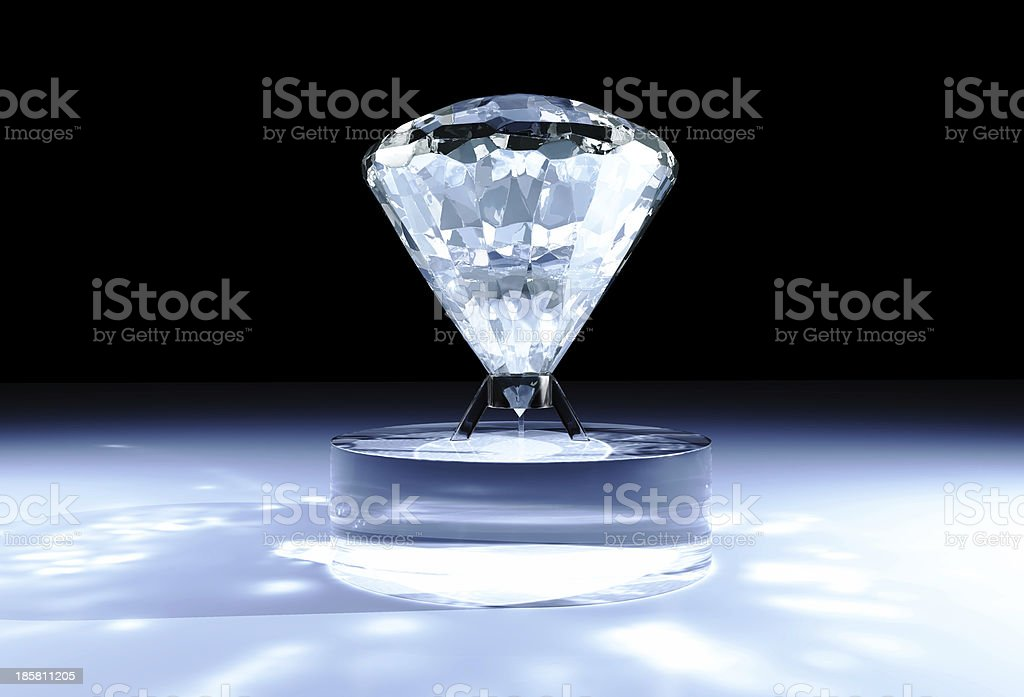diamond on cylindrical support royalty-free stock photo