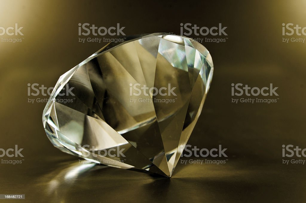 Diamond on Dark Gold stock photo