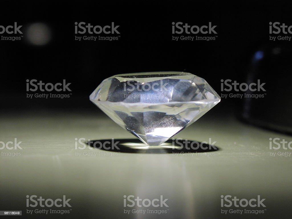 diamond on end royalty-free stock photo