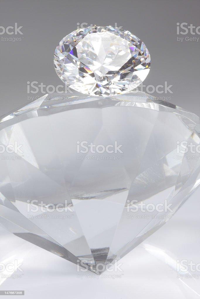 Diamond on top royalty-free stock photo