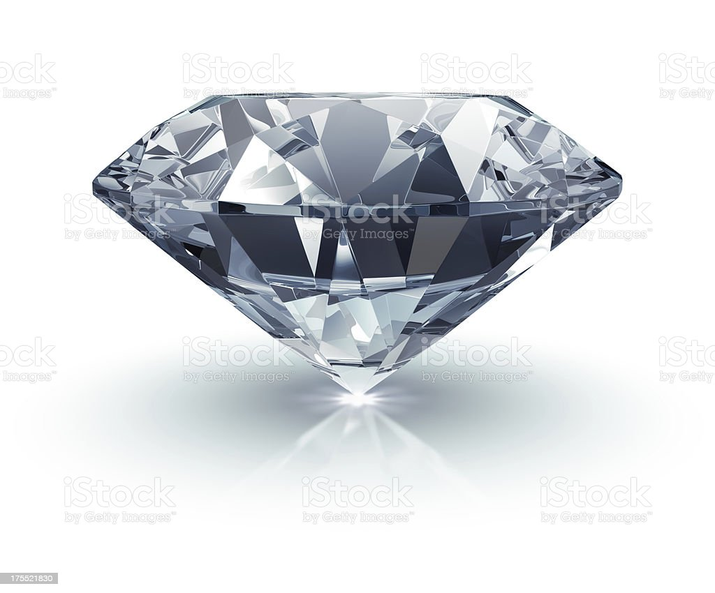 Diamond on White stock photo