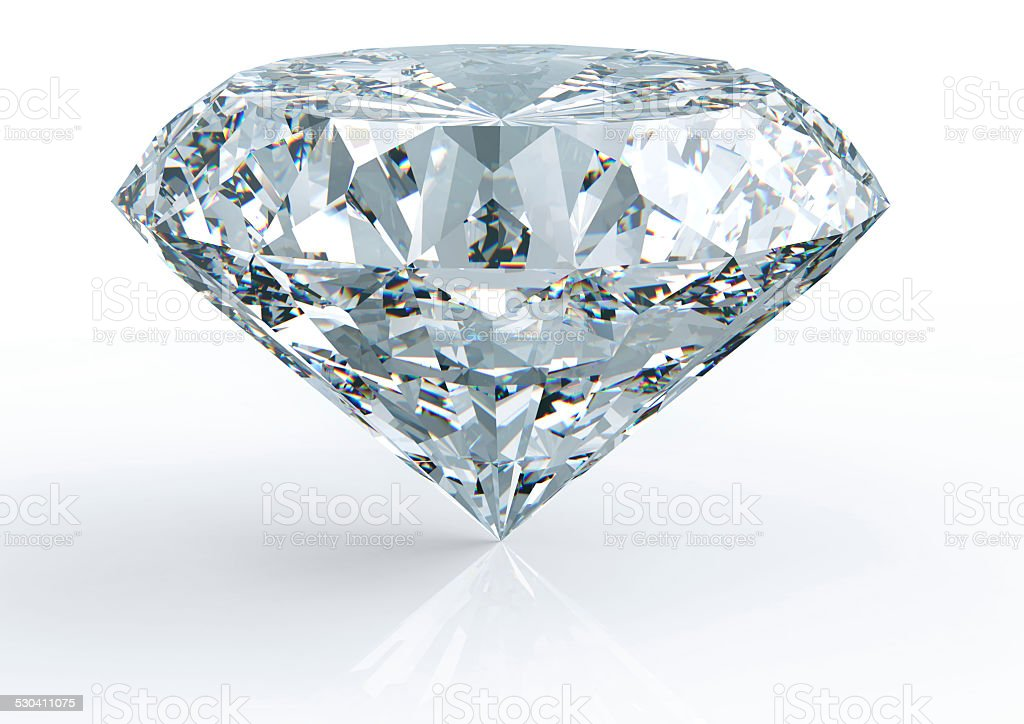 diamond on white with clipping path stock photo