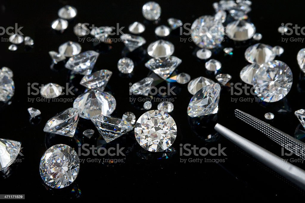Diamond Parcel royalty-free stock photo