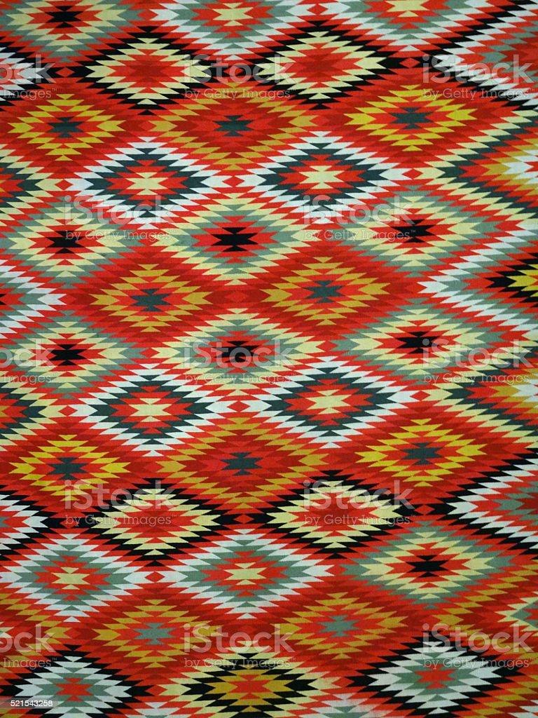 Diamond pattern Blanket Rug stock photo