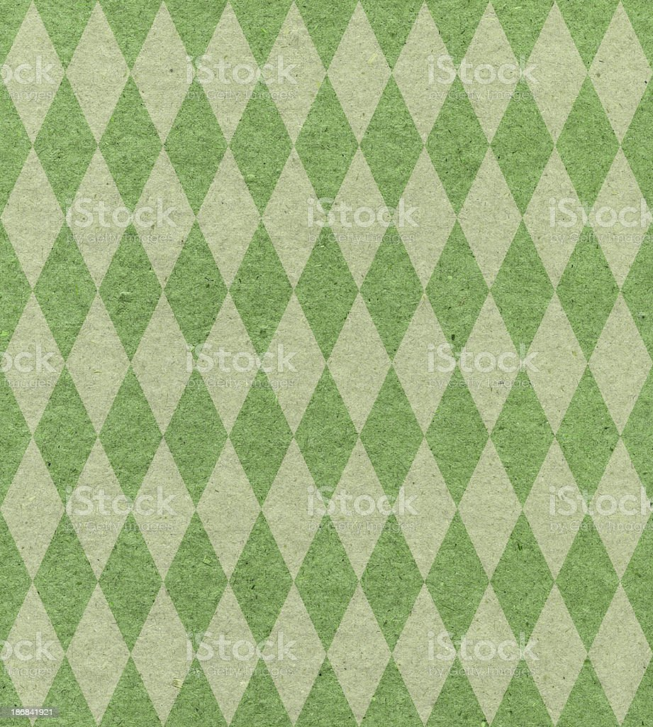 diamond pattern green paper royalty-free stock photo