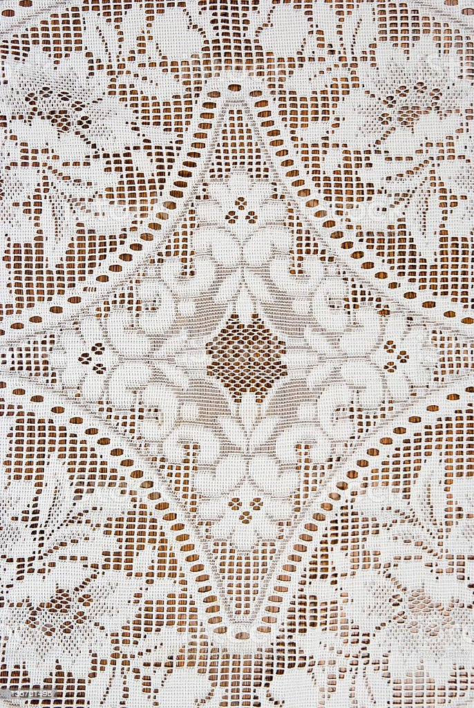 Diamond Pattern in Lace with Flowers, Detail, Design Element stock photo