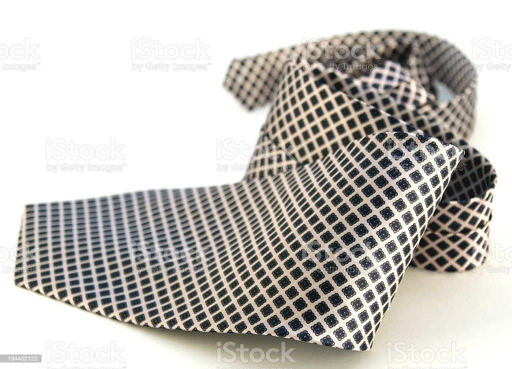 diamond patterned men's neck tie royalty-free stock photo