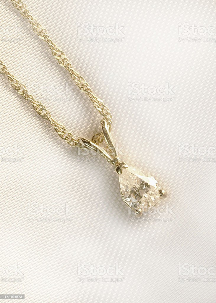 Diamond Pendant royalty-free stock photo