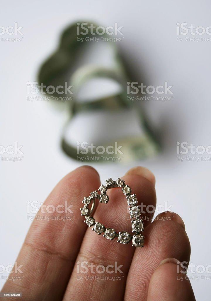 Diamant Pendentif photo libre de droits