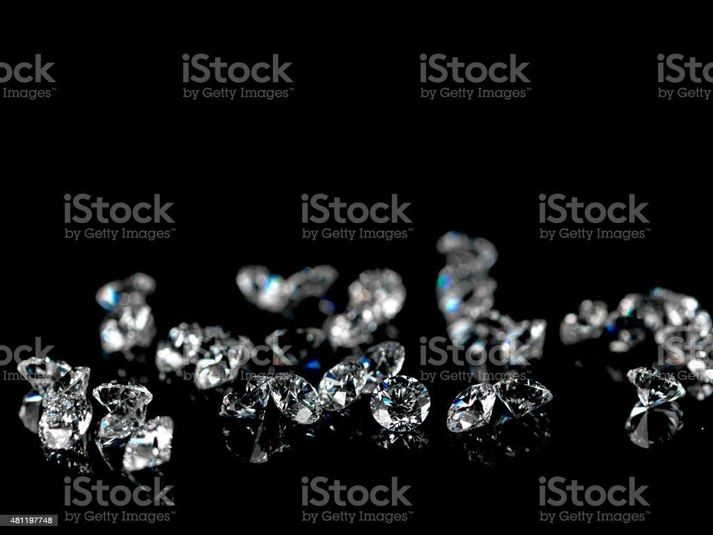 WHITE diamond stock photo