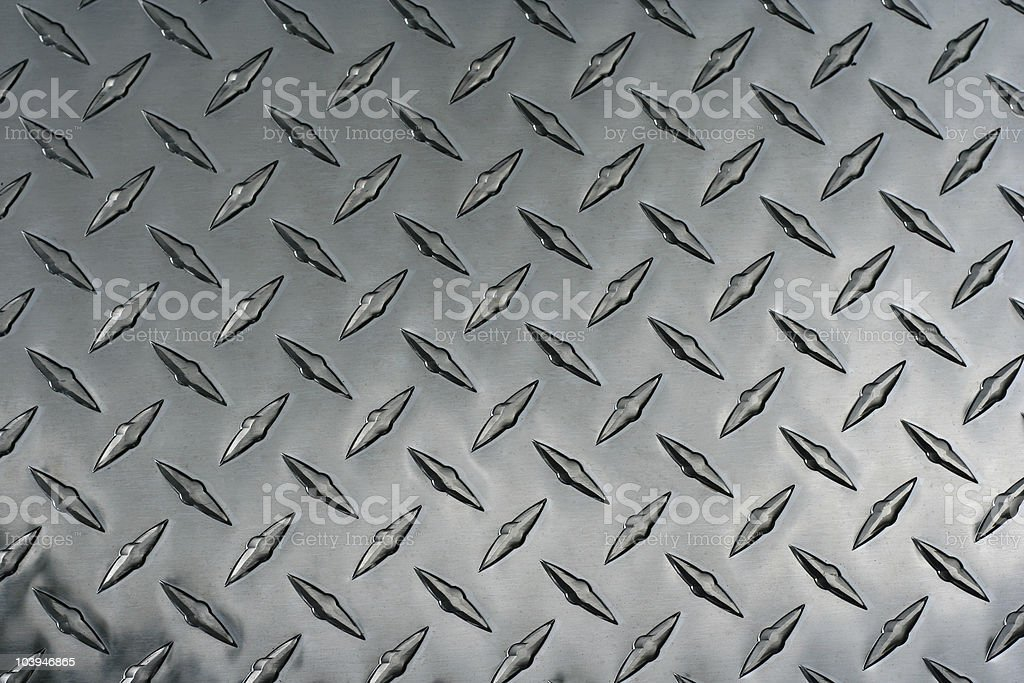 Diamond plate or metal background royalty-free stock photo