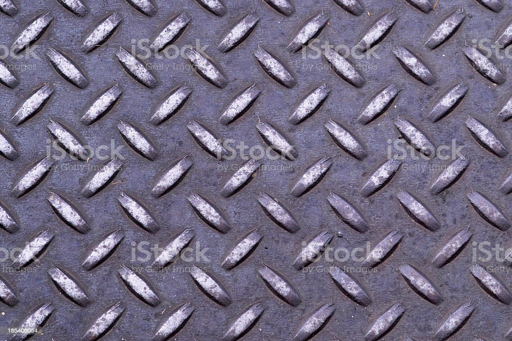 Diamond Plate Steel Tile stock photo