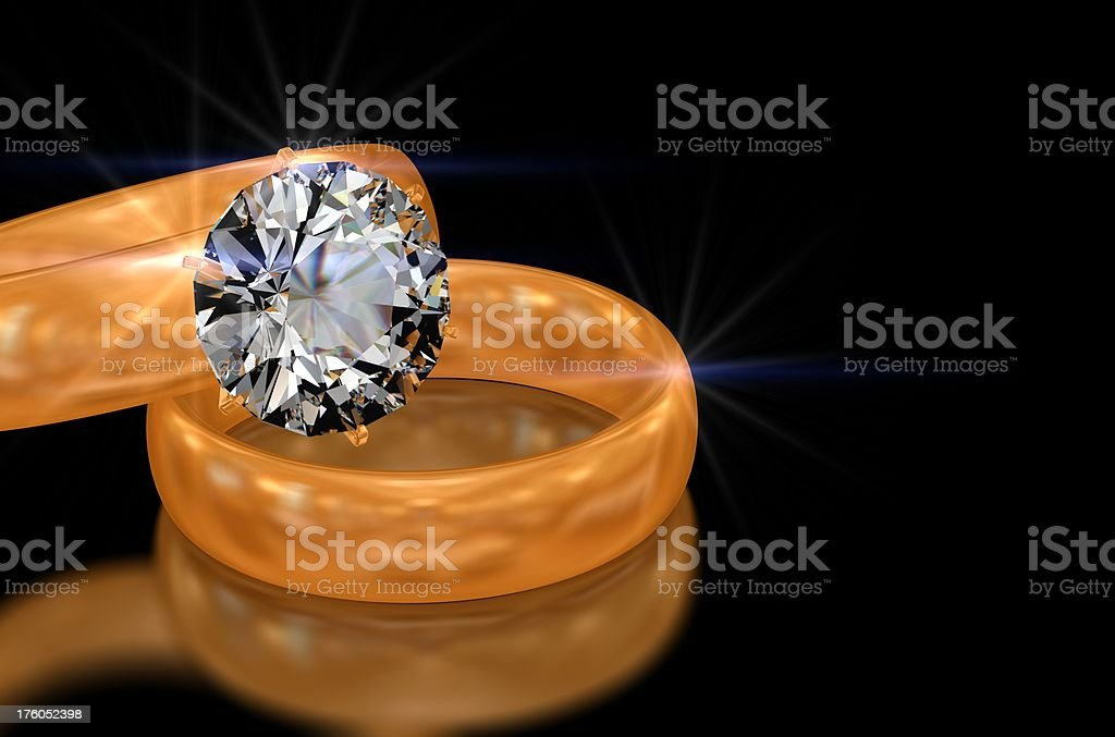 Diamond ring and band royalty-free stock photo