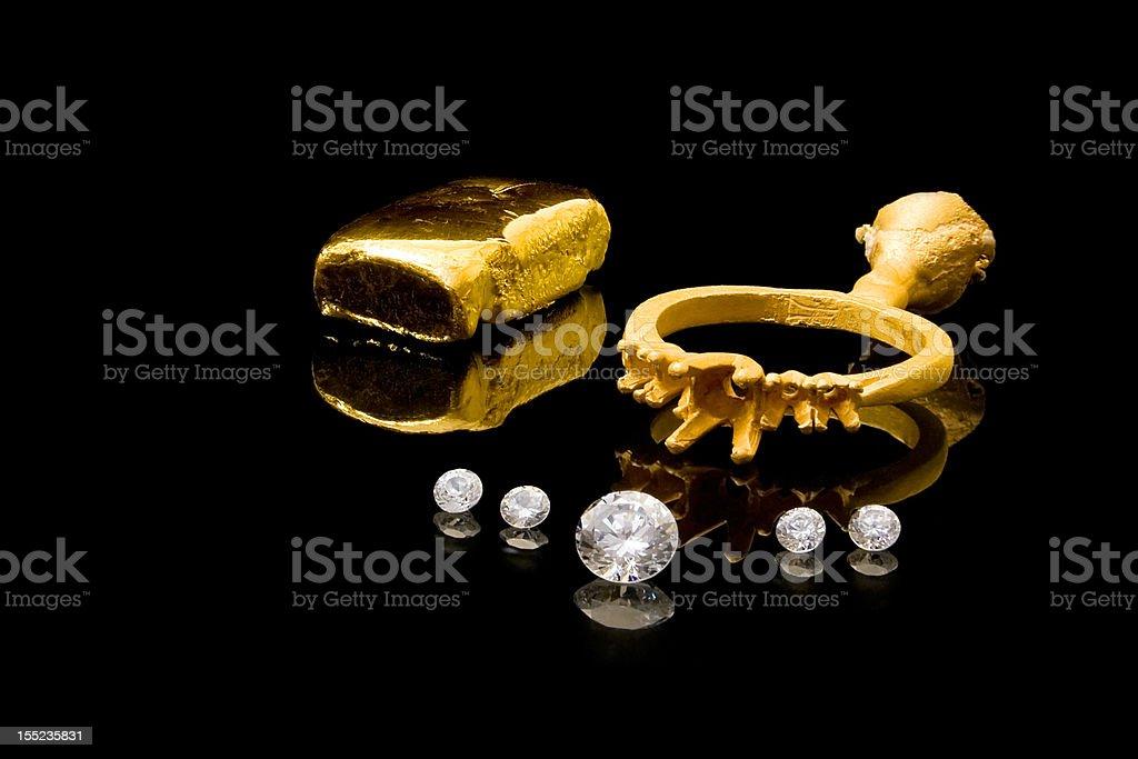 Diamantring-Konstruktion Lizenzfreies stock-foto