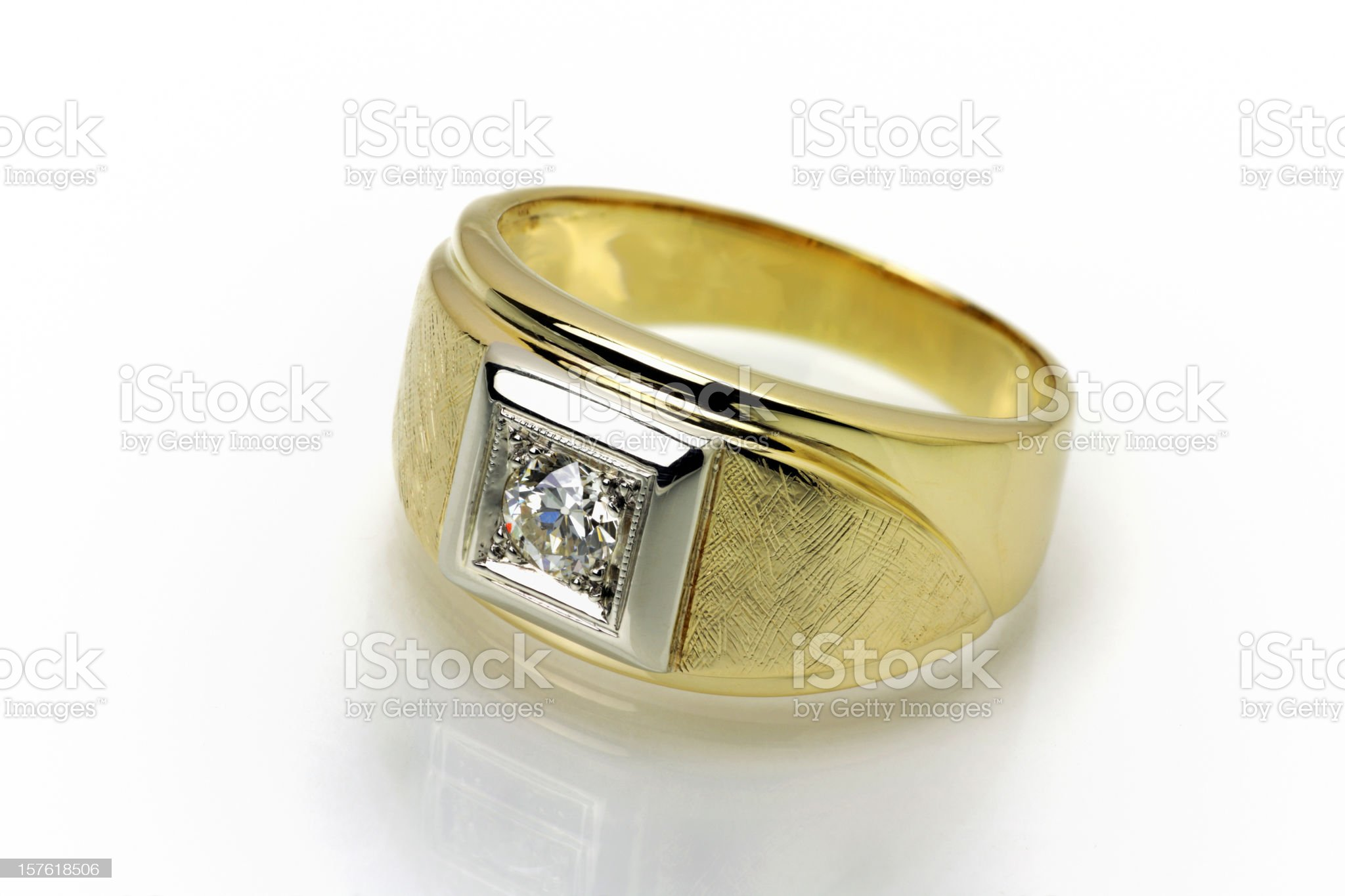 Diamond Ring for Him royalty-free stock photo