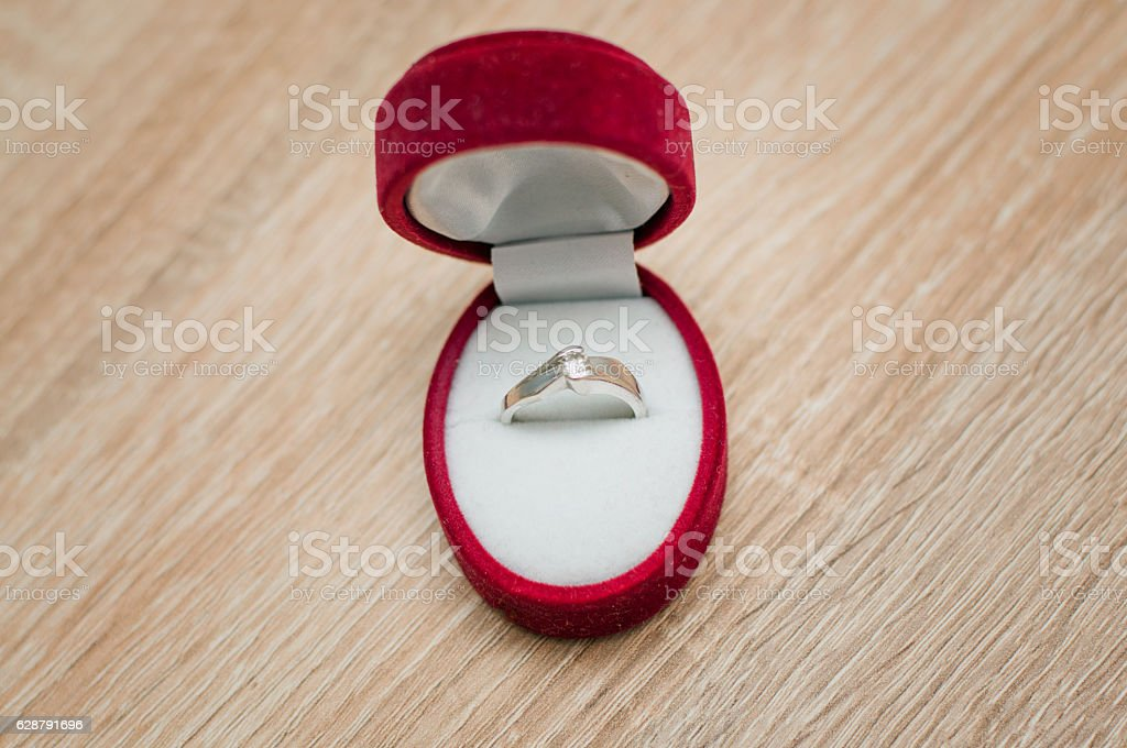 Diamond Ring for Valentine's Day stock photo