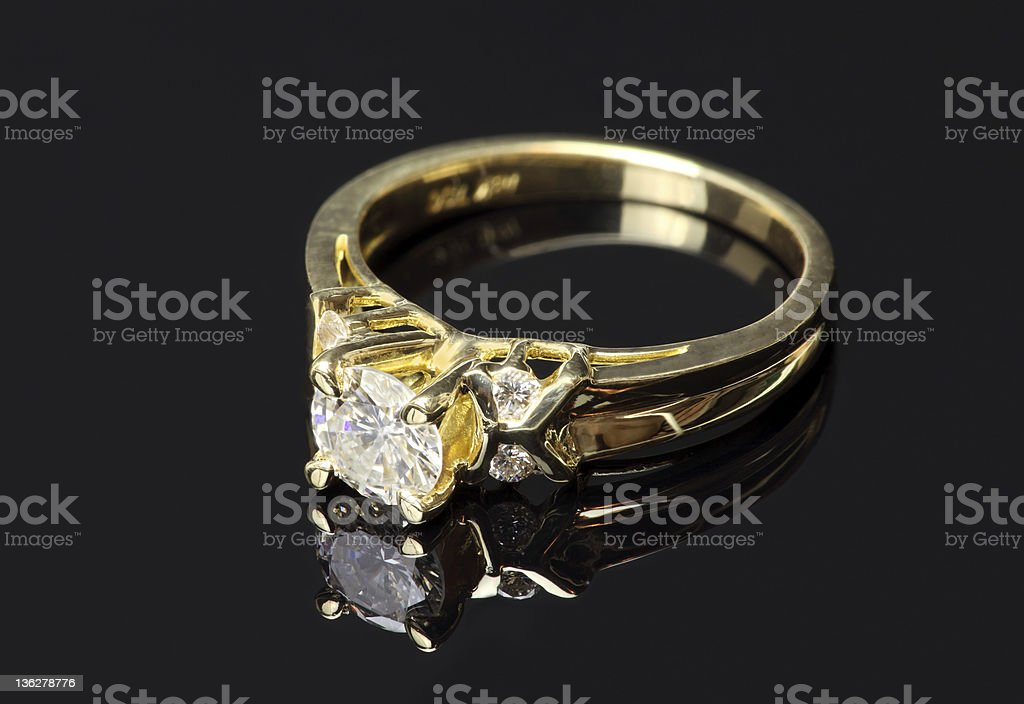 Diamond Ring in Gold royalty-free stock photo