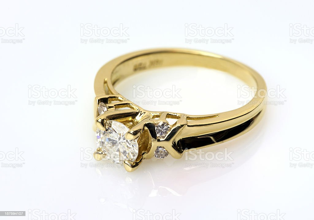Diamond Ring in Gold stock photo