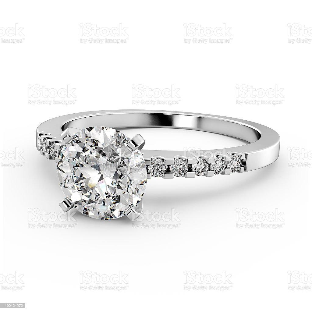 Diamond Ring - Laying Down stock photo