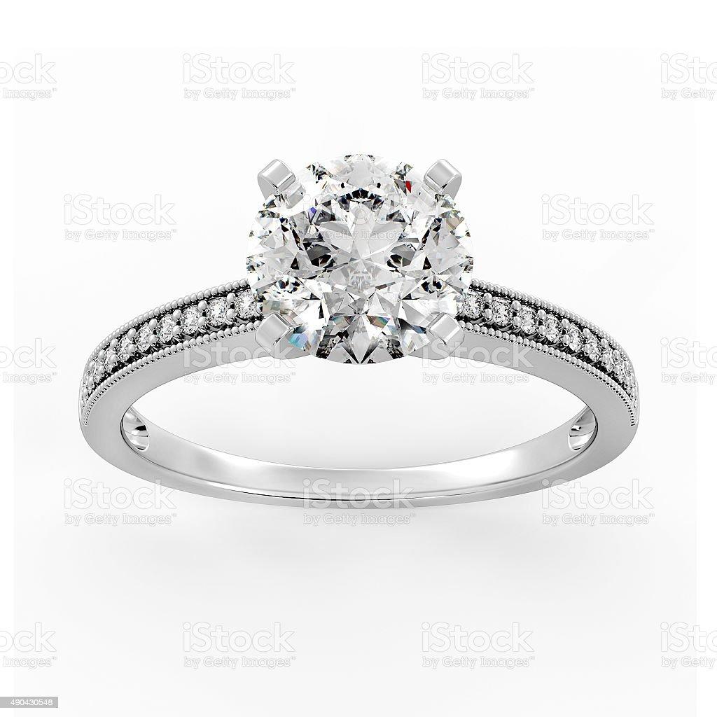 Diamond Ring Model 2 - Top Center stock photo