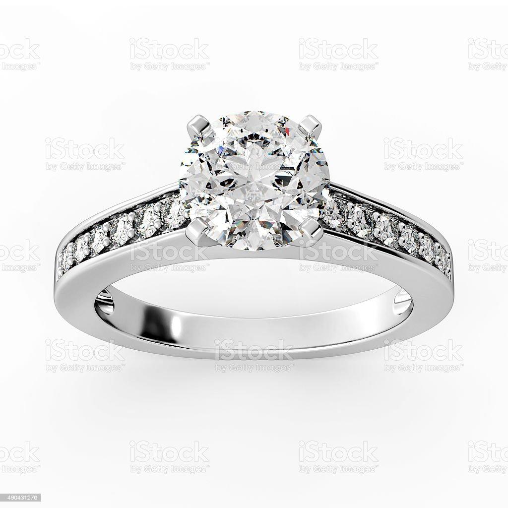 Diamond Ring Model 3 - Top Center stock photo