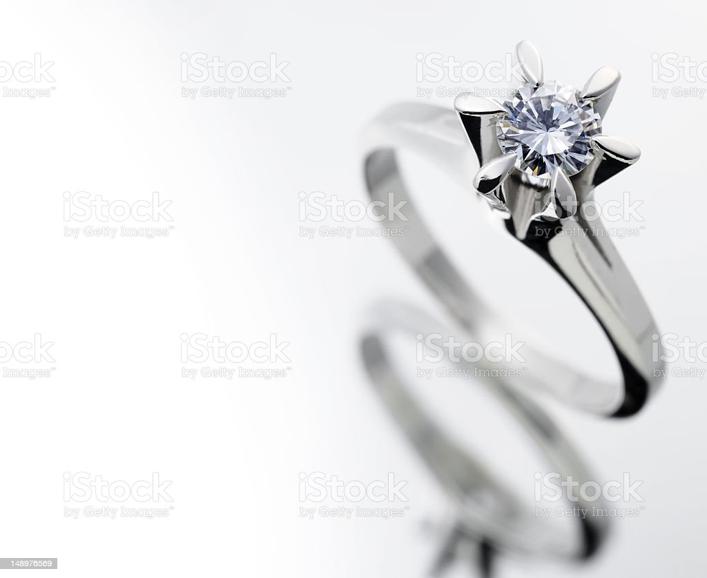 Diamond ring royalty-free stock photo