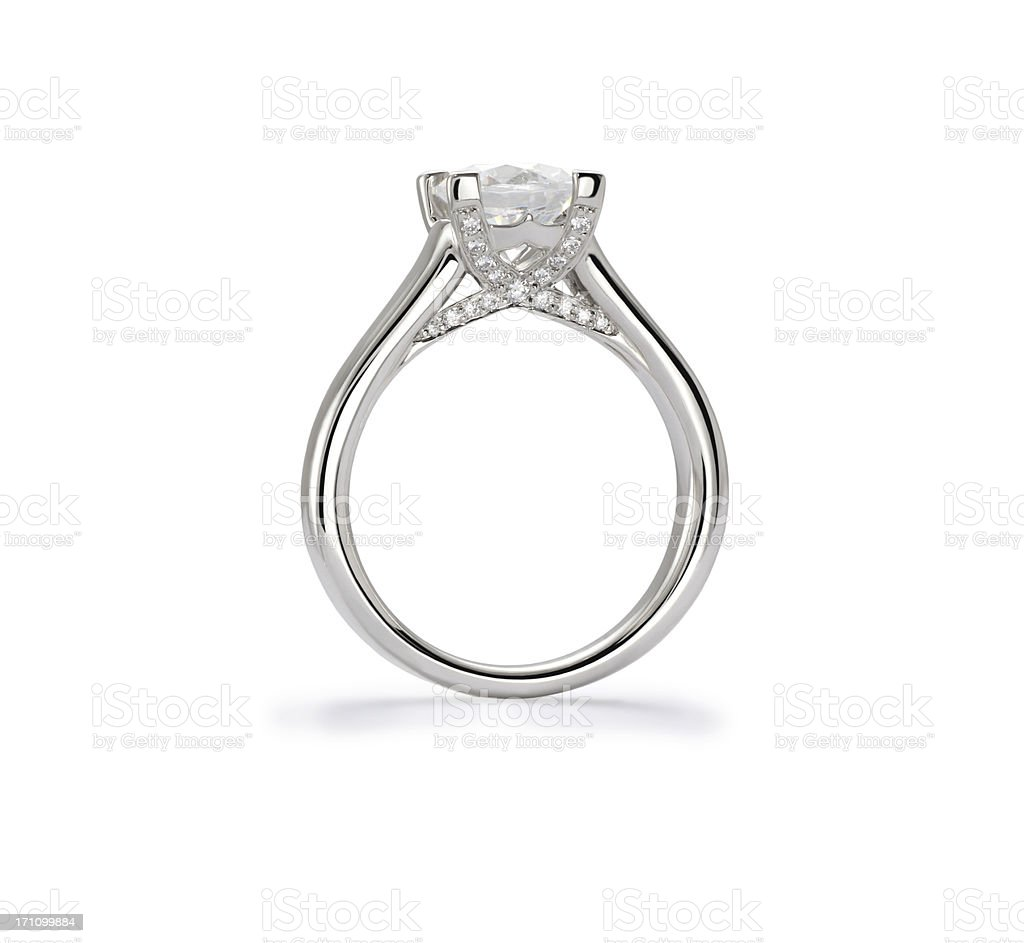 Diamond Ring Profile royalty-free stock photo