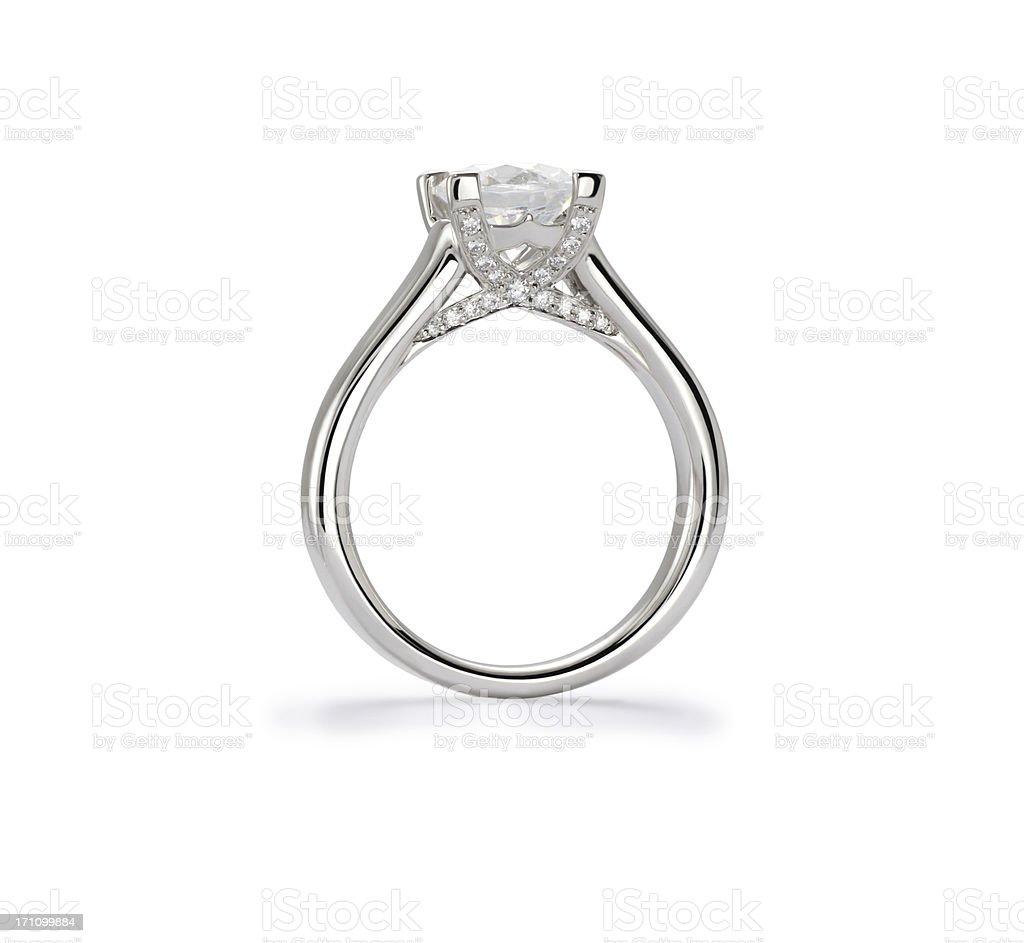 Diamond Ring Profile stock photo